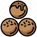 ball, chocolate, dessert, food, snack, sugar, sweet icon