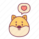 animal, dog, feedback, like, love, message, valentine icon