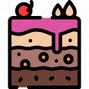 cake, dessert, food, slice icon