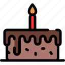 birthday, cake, food, party icon
