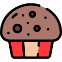 bakery, cupcake, dessert, muffin icon
