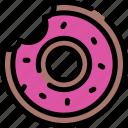 bakery, dessert, donut, doughnut icon
