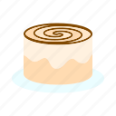 cake, cinnamon roll, dessert, sweet