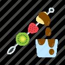 dessert, fruit, fruit skewer, sweet icon
