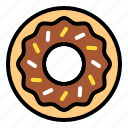 dessert, donut, doughnut, sugar, sweet, sweets icon