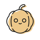 cute, sweet, halloween, orange, smile, pumpkin