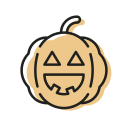 cute, dead, halloween, pumpkin, scary, smile, sweet icon