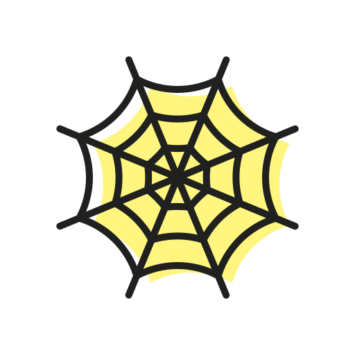 grose, halloween, scary, spider, spiderweb, sweet, web icon
