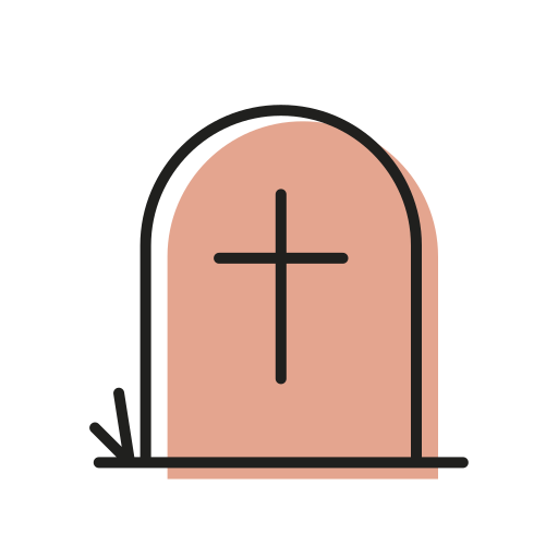 dead, grave, halloween, scary, sweet, tomb, tombstone icon