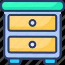 cabinet, desk, drawer, furniture, night, stand, storage