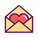 filled, heart, love, outline, sweet, valentines, wedding icon