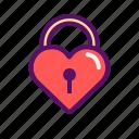heart, key, love, outline, romantic, sweet, valentine icon