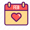 date, love, outline, romantic, sweet, valentine, wedding icon