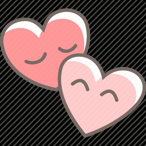 balloons, couple, cuddle, heart, love icon
