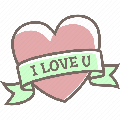 banner, declare, heart, i love you, love icon