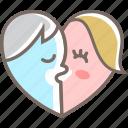 couple, heart, kiss, love, romance