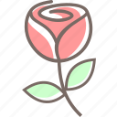 flower, love, romantic, rose, sweet, valentine icon