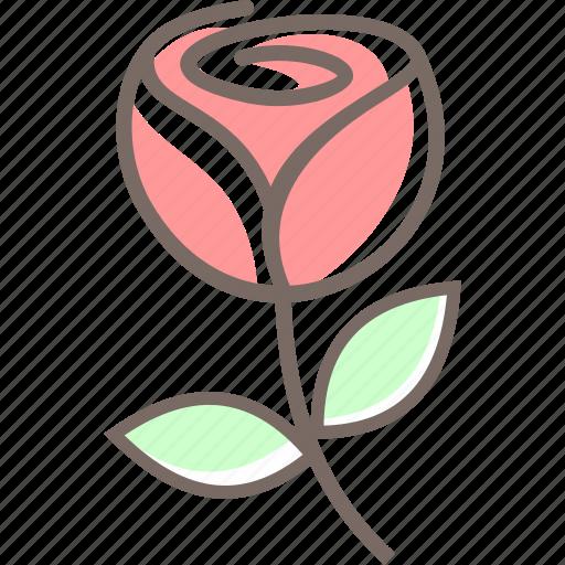 flower, love, romantic, rose, sweet, valentine icon