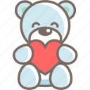 bear, gift, male, teddy, valentine icon