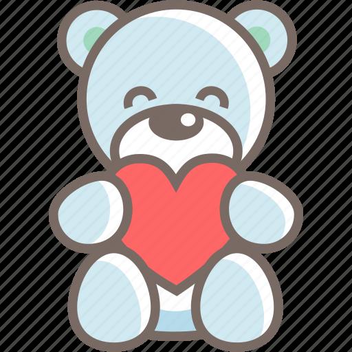 bear, gift, male, teddy, valentine icon