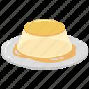 sweet, dessert, treats, cream, caramel, custard, pudding