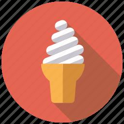 candy, dessert, ice cream, soft ice, sundae, sweets, waffle icon