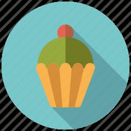cake, cupcake, pastry, pistachio, sweets icon