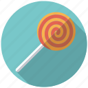 candy, hard candy, lollipop, spiral, stick, sweets, swirl icon