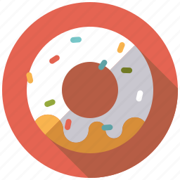 cake, candy, donut, icing, pastry, sprinkles, sweets icon