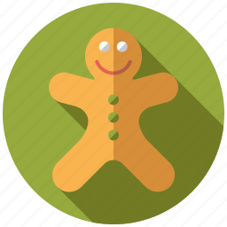 cake, christmas, gingerbread, man, pastry, sweets icon