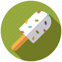 dessert, ice cream, popsicle, sprinkles, sweets icon