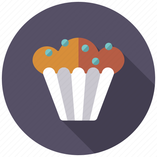 blueberry, cake, cupcake, muffin, pastry, sweets icon