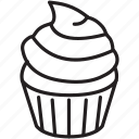 cupcake, decorate, delicious, frosting, sweet, taste icon