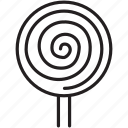 candy, child, circle, lollipop, sweet, swirl icon