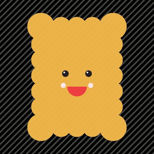 biscuit, cookie, emoji, emoticon, food, smiley, sweet icon