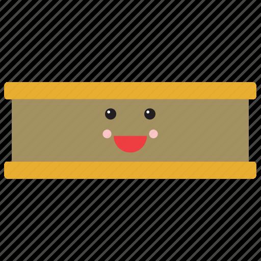 emoji, emoticon, face, food, ice cream, sandwich, smiley icon