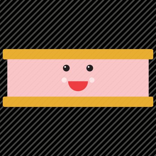 emoji, emoticon, happy, ice cream, sandwich, smiley, sweet icon