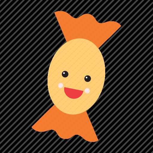 candy, emoji, emoticon, food, happy, smiley, sweet icon