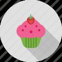 cake, cream, cupcake, cupcakes, food, strawberry, sweet