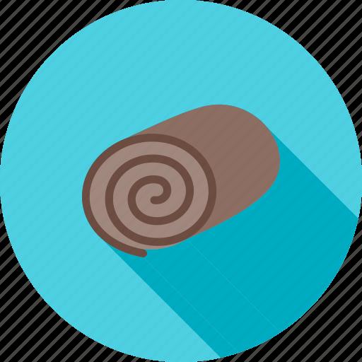 cake, chocolate, dessert, food, roll, sweet, swiss icon
