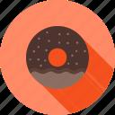 chocolate, dessert, donut, doughnuts, food, sprinkles, sugar