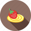 cake, dessert, food, roll, strawberry, sweet, swiss icon