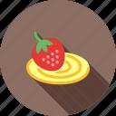 cake, dessert, food, roll, strawberry, sweet, swiss