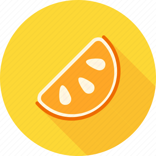 food, fruit, healthy, juicy, orange, slice, slices icon