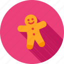 baked, biscuit, cake, christmas, cookie, gingerbread, sweet icon