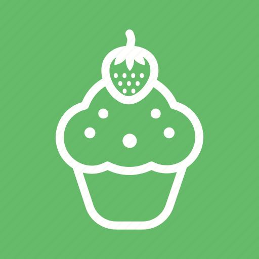 cake, cream, cupcake, cupcakes, food, strawberry, sweet icon