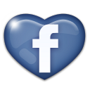 love, heart, facebook