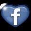 facebook, heart, love icon