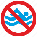cancel, no, swim icon