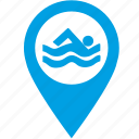 place, point, swim icon